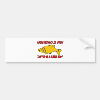 Anadromous Fish trapped in a human body Bumper Sticker