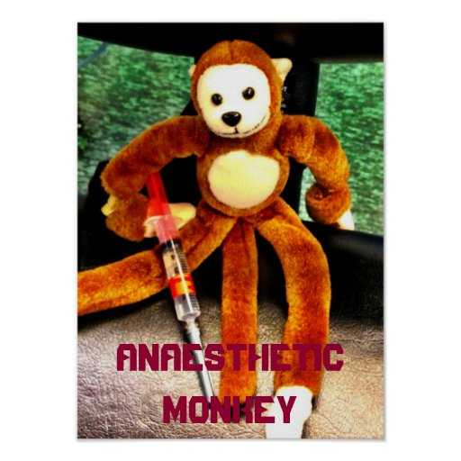 ANAESTHETIC MONKEY POSTER