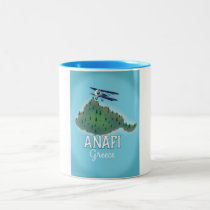 Anafi Island Greece travel poster.