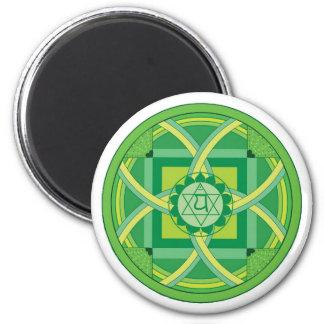 Anahata chakra Mandala 2 Inch Round Magnet