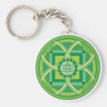 Anahata chakra Mandala Basic Round Button Keychain