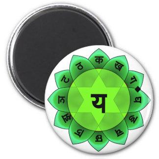 Anahata el corazón Chakra Iman De Frigorífico