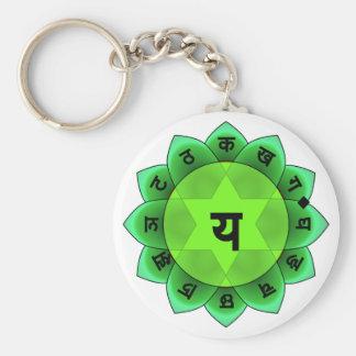Anahata el corazón Chakra Llavero Personalizado