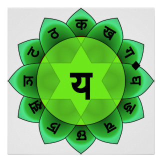Anahata el corazón Chakra Póster