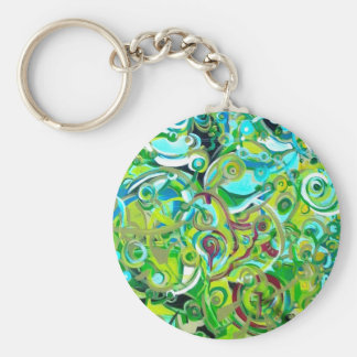 Anahata - energies open basic round button keychain