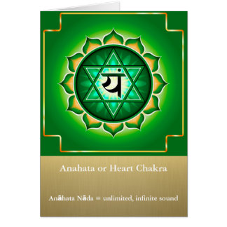 Anahata or Heart Chakra Greeting Card