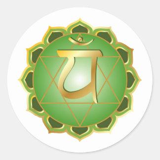 anahata or heart chakra Sticker