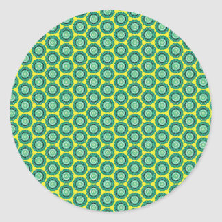 Anahata pattern classic round sticker