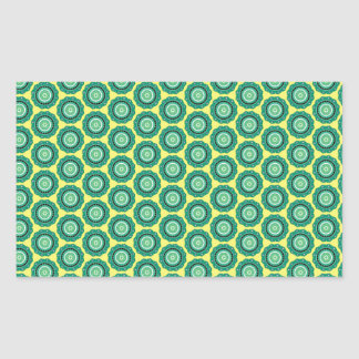 Anahata pattern rectangular sticker