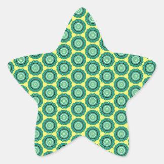 Anahata pattern star sticker