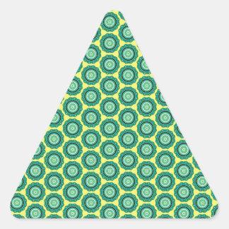 Anahata pattern triangle sticker