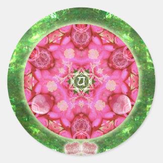 Anahata Rose Classic Round Sticker