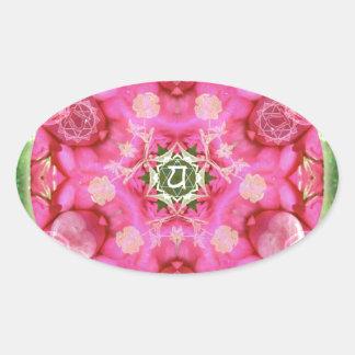 Anahata Rose Oval Sticker