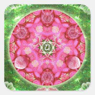 Anahata Rose Square Sticker