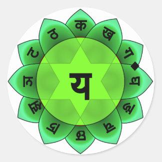 Anahata The Heart Chakra Classic Round Sticker