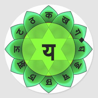 Anahata The Heart Chakra Round Sticker