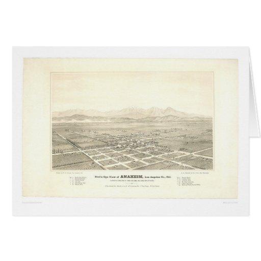 Anaheim, CA. Panoramic Map (0025A) - Restored Greeting Card