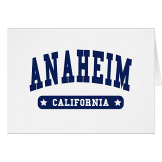 Anaheim California College Style t shirts Greeting Cards