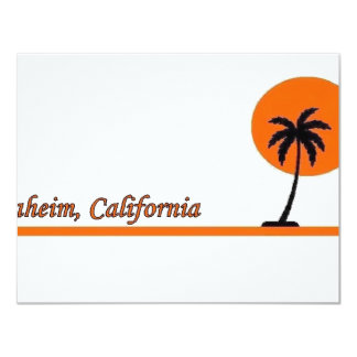 """Anaheim, California Invitación 4.25"""" X 5.5"""""""