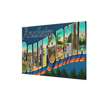 Anaheim, California - Large Letter Scenes Canvas Print