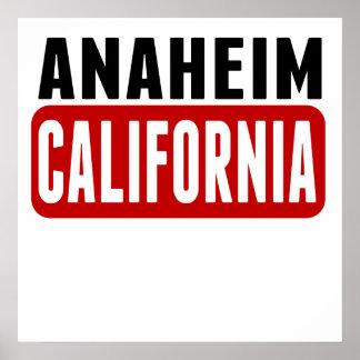 Anaheim California Poster