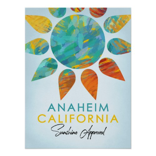 Anaheim Posters - Sunshine Travel Poster