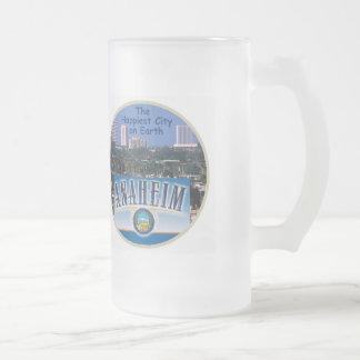 ANAHEIM FROSTED GLASS BEER MUG