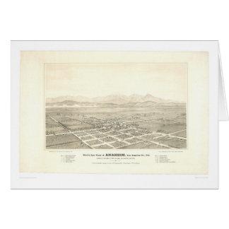 Anaheim, mapa panorámico del CA (0025A) - restaura Felicitacion