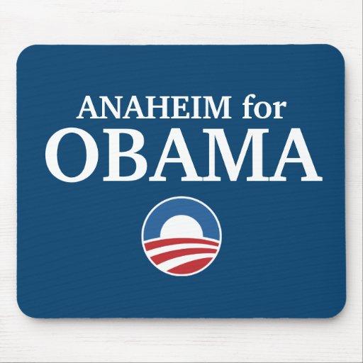 ANAHEIM para el personalizado de Obama su ciudad p Alfombrilla De Ratón