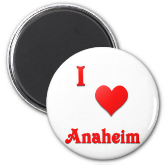 Anaheim -- Rojo Imán Redondo 5 Cm