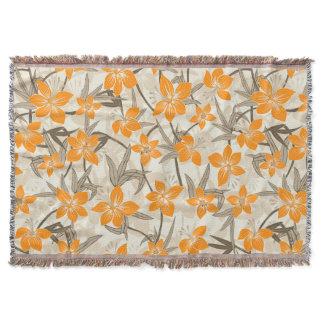 Anaina Hou Hawaiian Tropical Floral Throw Blanket