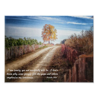 Anais Nin quote on loneliness: gorgeous wall art
