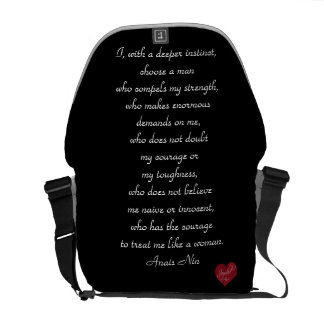 Anais Nin quote Trendy Chic Bag-Purse Courier Bags