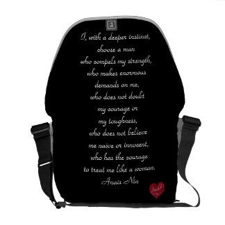 Anais Nin quote Trendy Chic Bag-Purse Messenger Bag