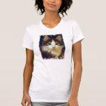Anakin Two Legged Cat, Cute Kitten T-Shirt CloseUp