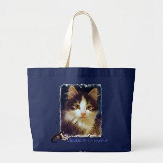 Anakin Two Legged Cat Cute Kitten Tote Bag CloseUp