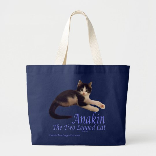 Anakin Two Legged Cat Logo, Cute Kitten Tote Bag