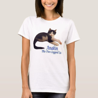 Anakin Two Legged Cat Logo, Cute Kitten Tshirt