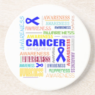 Anal Cancer Awareness Collage Drink Coasters