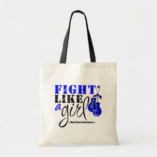Anal Cancer Awareness Fight Like a Girl Budget Tote Bag