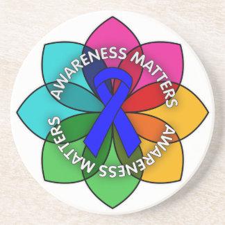 Anal Cancer Awareness Matters Petals Coaster