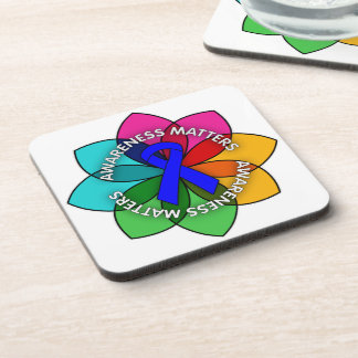 Anal Cancer Awareness Matters Petals Beverage Coasters
