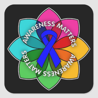 Anal Cancer Awareness Matters Petals Square Sticker