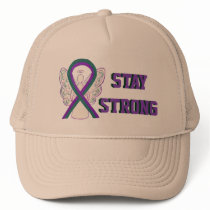 Anal Cancer Awareness Ribbon Angel Cap or Hats