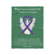 Anal Cancer Awareness Ribbon Angel Chemo Blankets