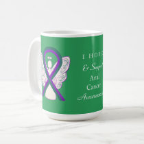 Anal Cancer Awareness Ribbon Angel Custom Mug
