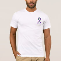 Anal Cancer Awareness Ribbon Art Custom T-Shirts