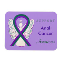 Anal Cancer Awareness Ribbon Custom Angel Magnet
