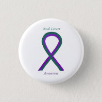 Anal Cancer Awareness Ribbon Custom Button Pins