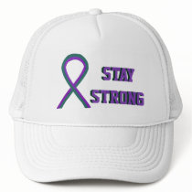 Anal Cancer Awareness Ribbon Custom Cap